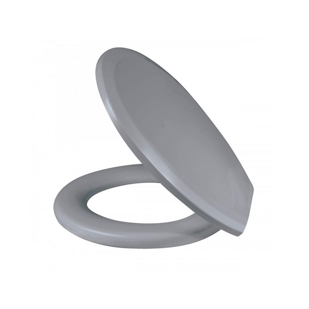 Assento sanitário almofadado plus cinza convencional polietileno