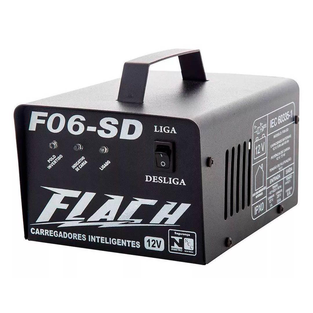 Carregador de Bateria Inteligente 6A Flach F06sd Bivolt