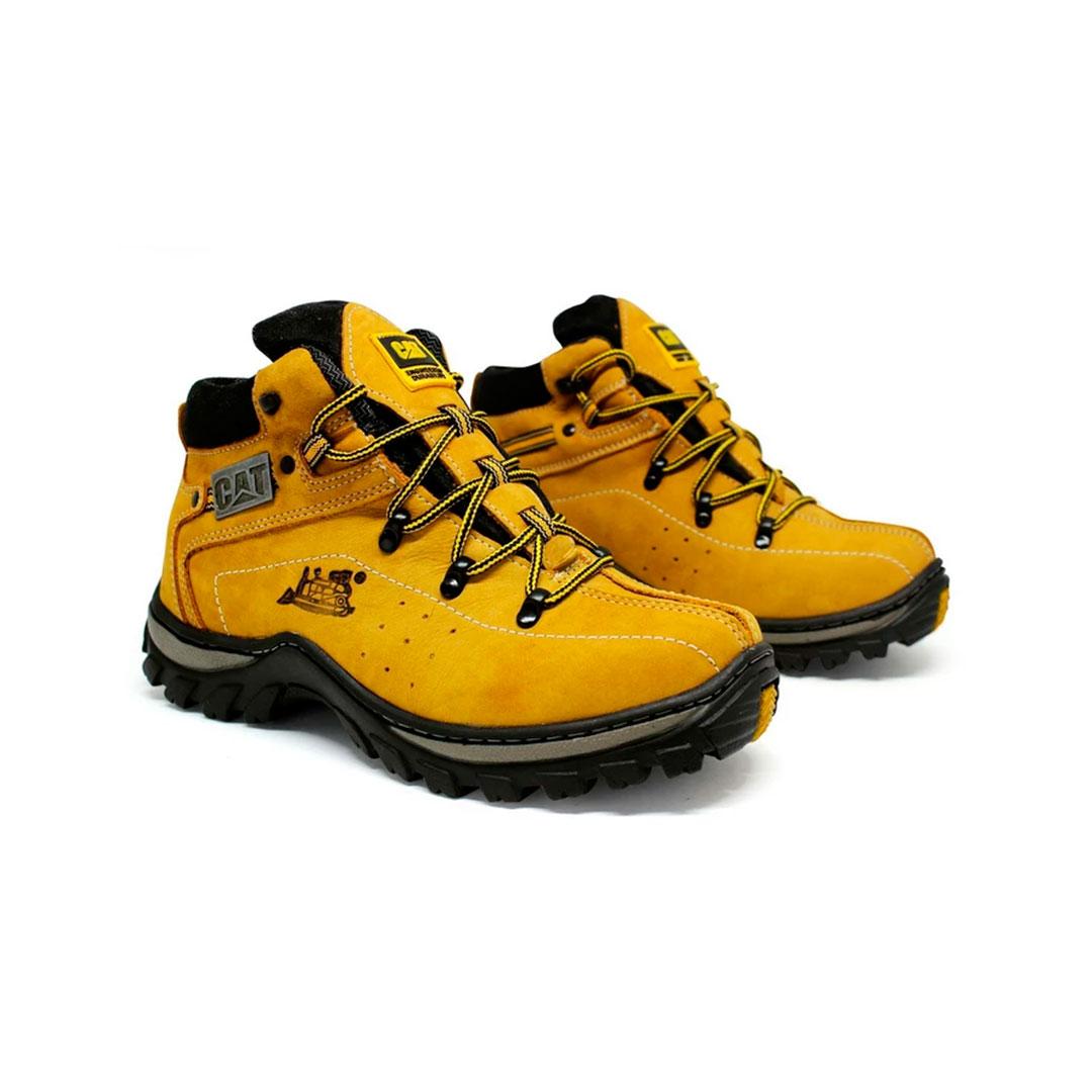 Bota couro botina amarela Adventure