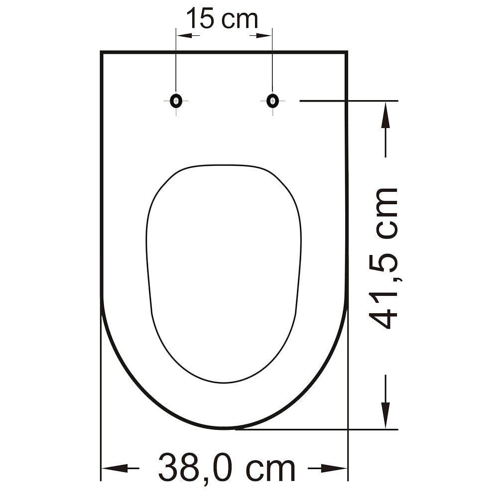 Assento Deca Belle Epoque Meridian Oxford creme convencional resina termofixo