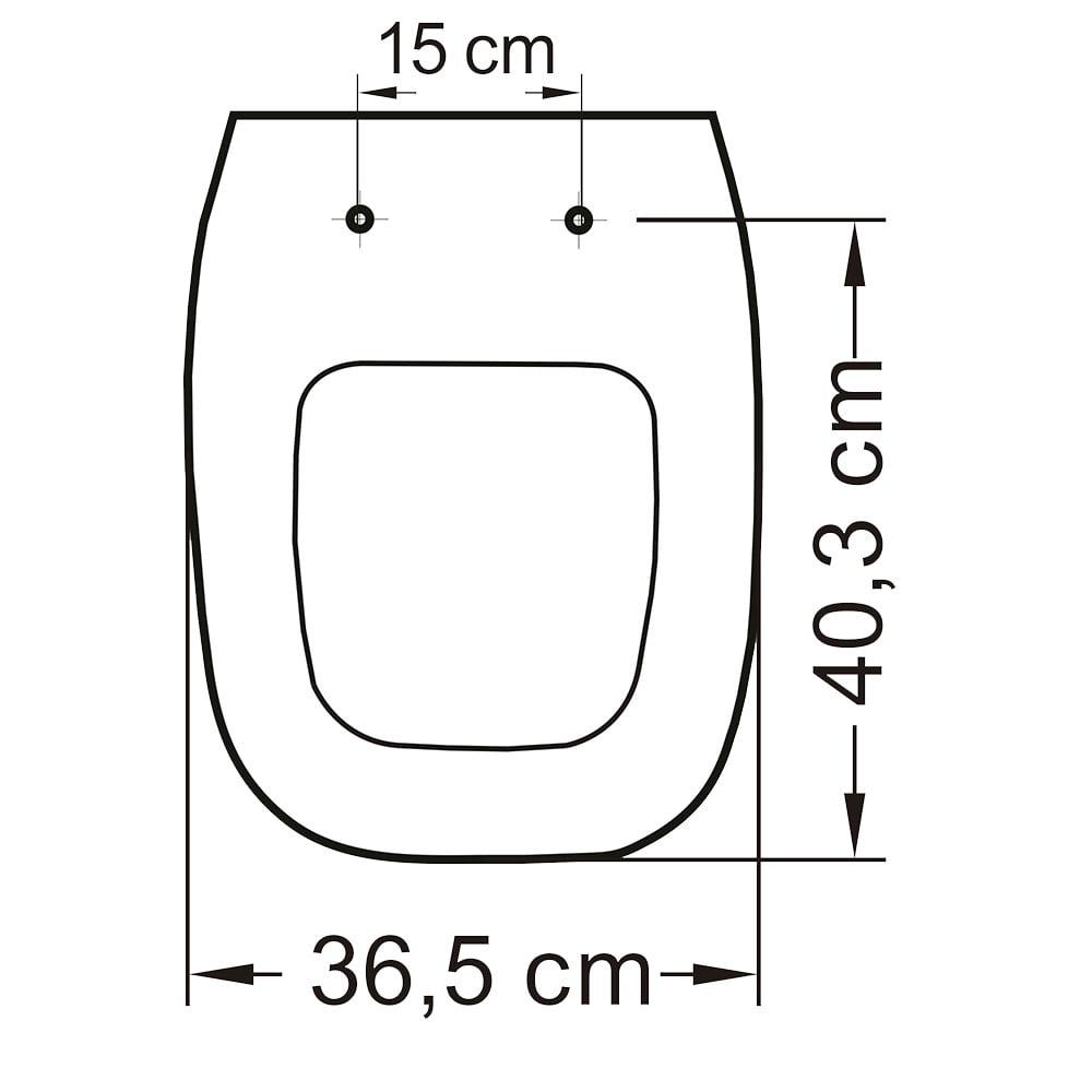Assento Incepa City/Avant, Logasa/Angra e Celite/Like pergamon convencional polipropileno