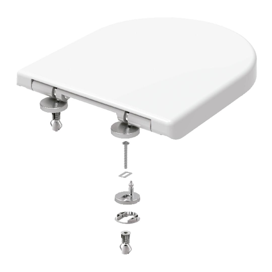 Assento sanitário Carrrara Duna Level Nexo Smart Vesuvio Neo branco soft close easy clean Tigre resina termofixo