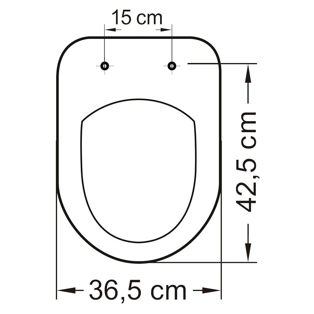 Assento sanitário Celite Riviera/Smart e Roca Nexo cinza convencional resina termofixo