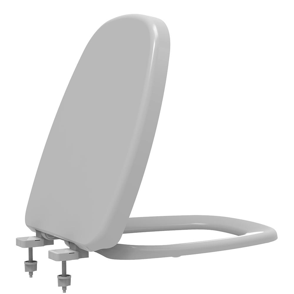Assento sanitário Deca Monte Carlo cinza soft close resina termofixo