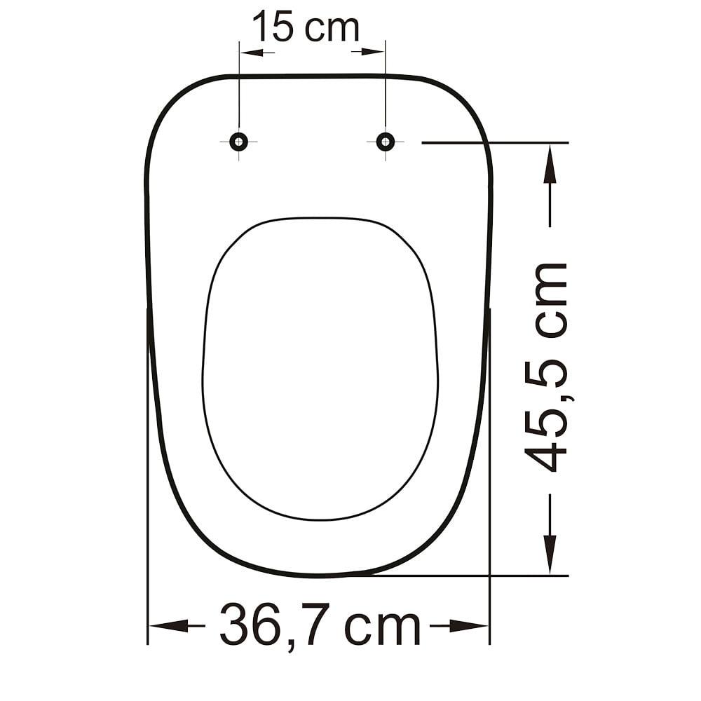 Assento sanitário Deca Monte Carlo convencional resina termofixo