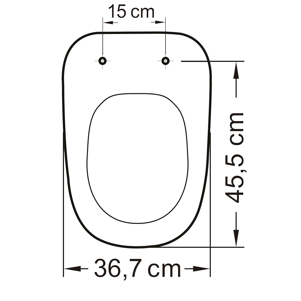 Assento sanitário Deca Monte Carlo preto convencional resina termofixo