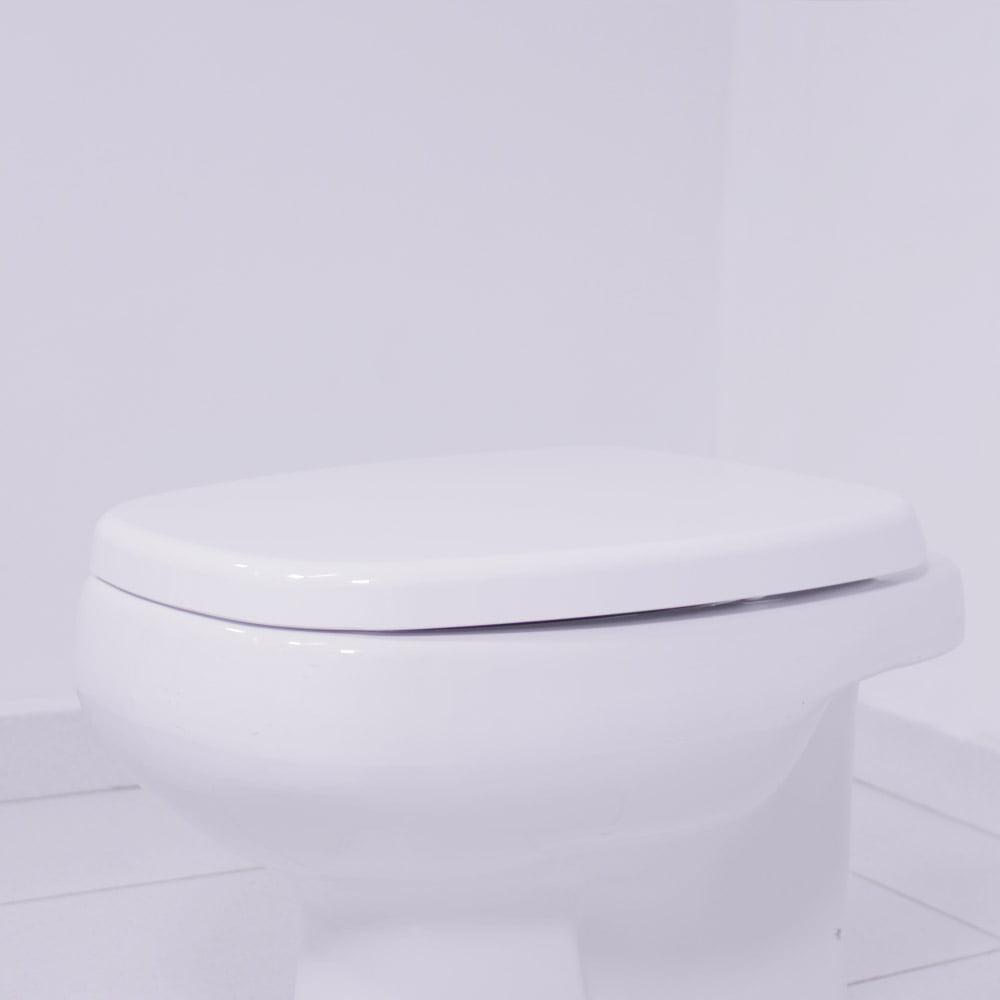 Assento sanitário Deca Monte Carlo gelo soft close resina termofixo