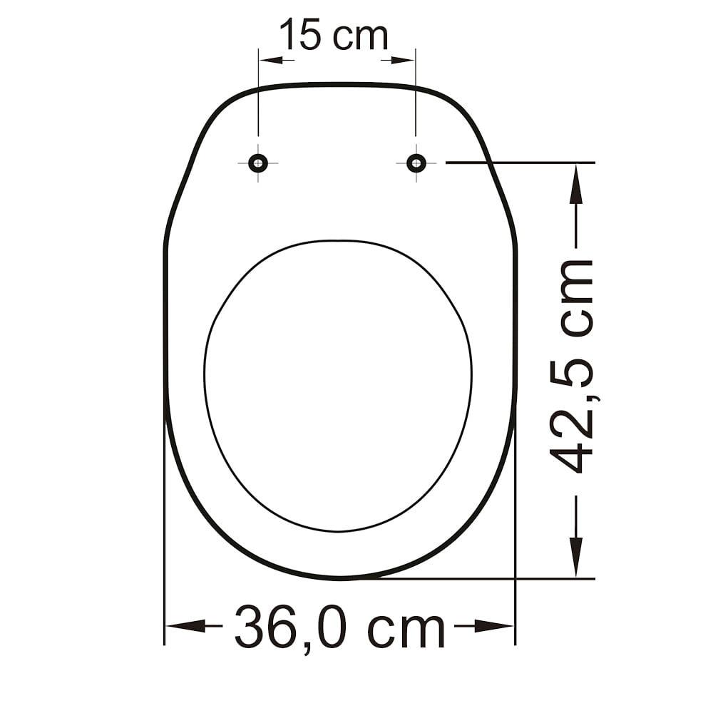 Assento sanitário Deca Village cinza convencional resina termofixo