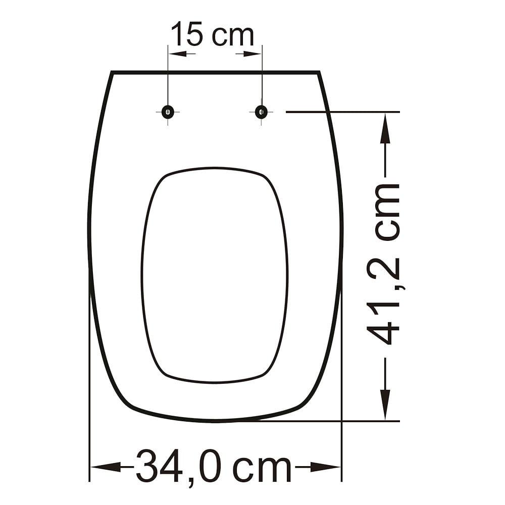 Assento sanitário Fiori Prímula Amarílis Hervy Laguna Celite Stylus preto soft close polipropileno