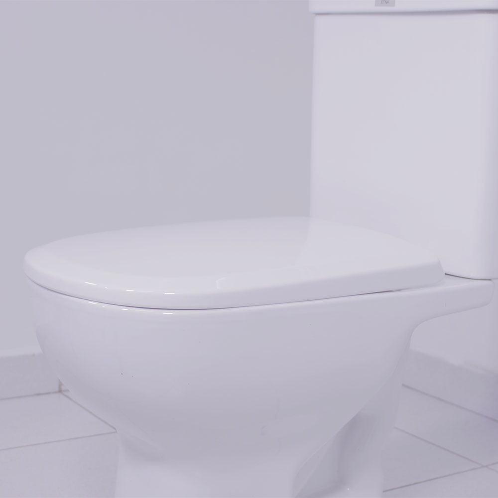 Assento sanitário Icasa Etna branco soft close polipropileno