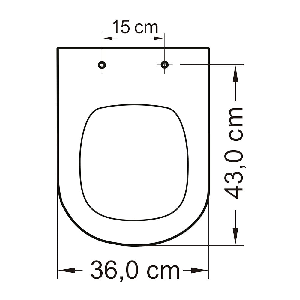 Assento sanitário Icasa Etna convencional polipropileno