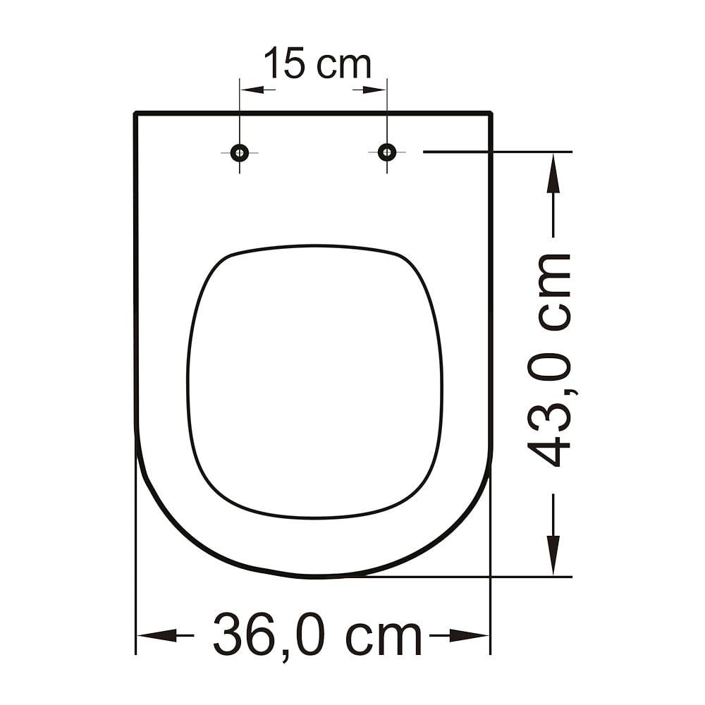 Assento sanitario Icasa Etna palha convencional resina temmofixo