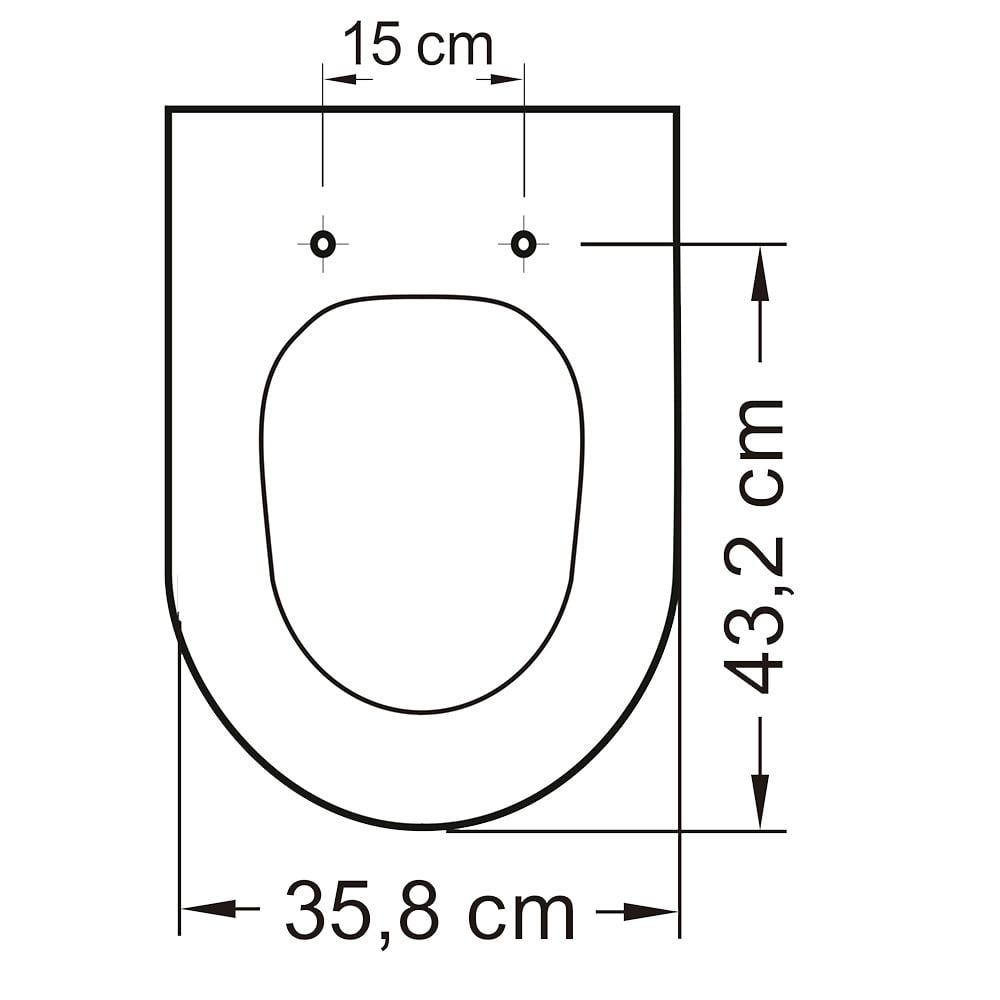 Assento sanitário Icasa Firenze branco convencional resina termofixo