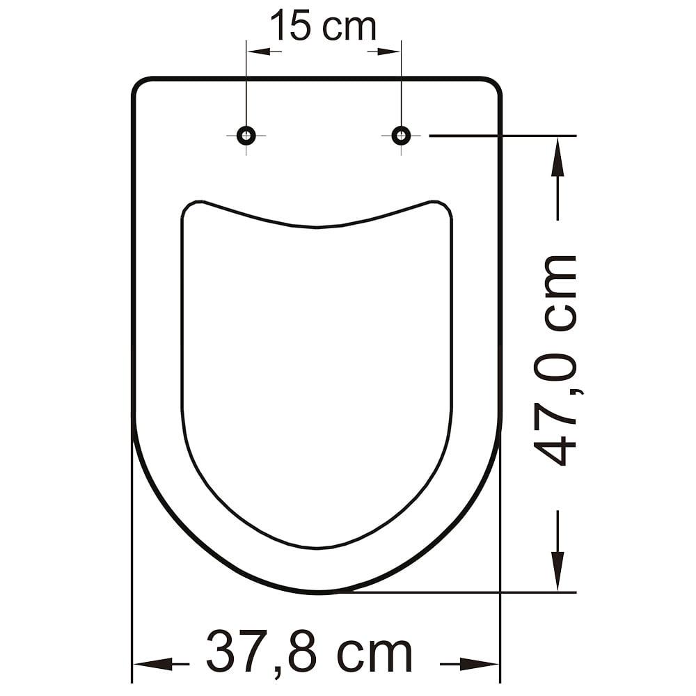 Assento sanitário Icasa Luna/Luna Speciale soft close polipropileno