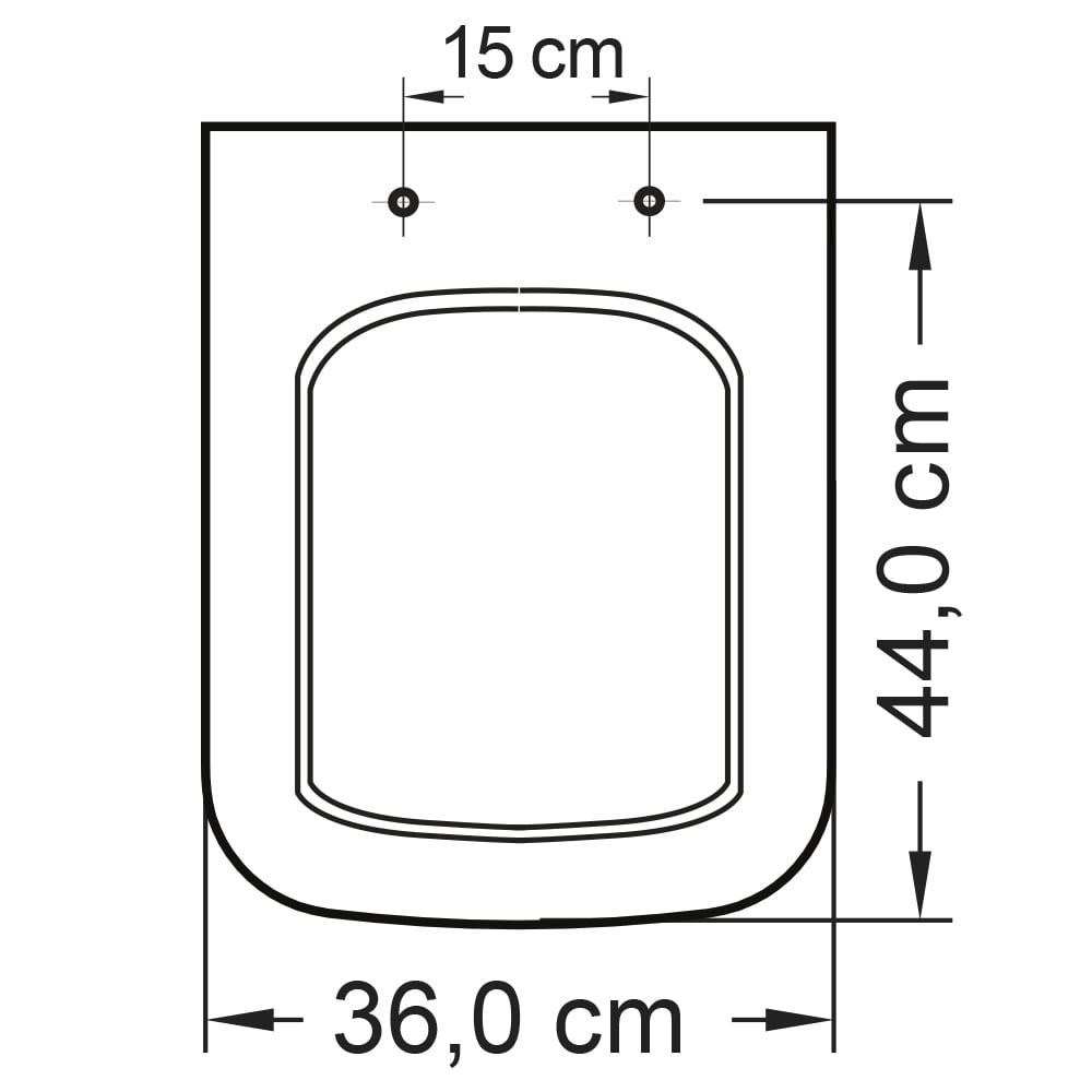Assento sanitário Icasa Misti preto soft close polipropileno