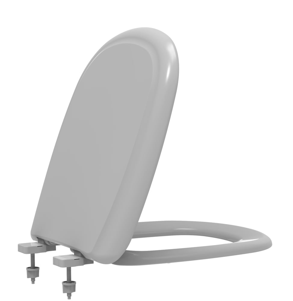 Assento sanitário Icasa Sabatini cinza convencional polipropileno