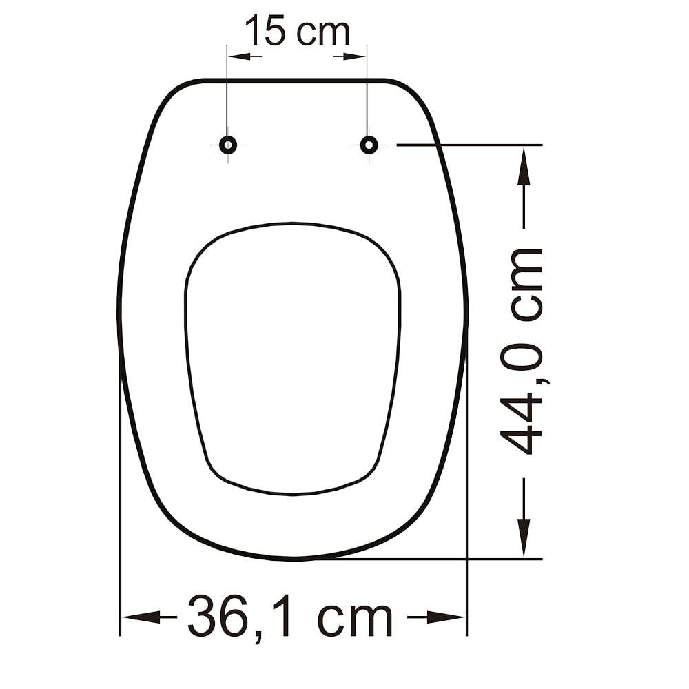 Assento sanitário Icasa Sabatini preto convencional resina termofixo