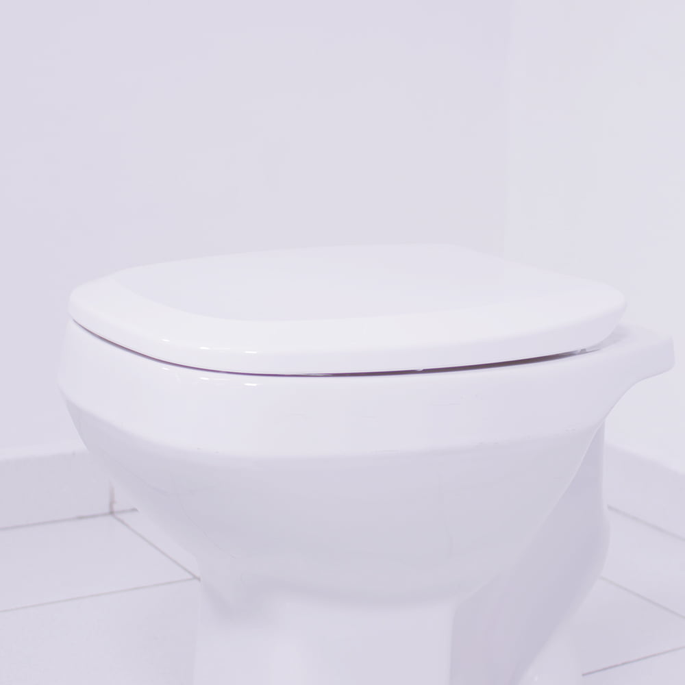 Assento sanitário Incepa Art e Celite Like branco convencional polipropileno