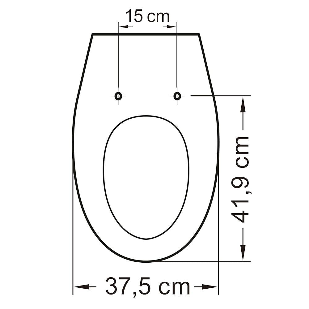 Assento sanitário Incepa Eros biscuit convencional resina termofixo