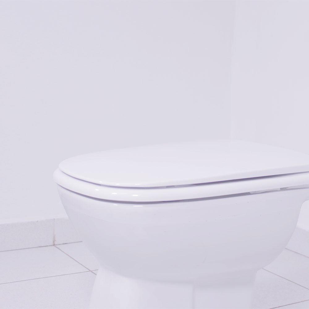Assento sanitário Incepa Ibiza branco convencional resina termofixo