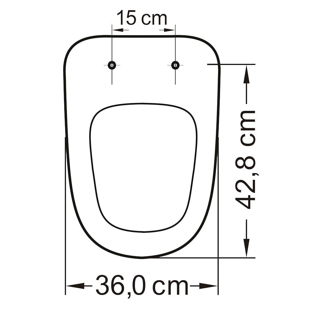 Assento sanitário Incepa Ibiza convencional resina termofixo