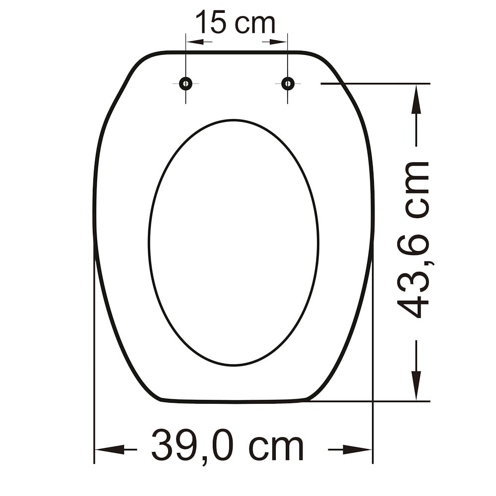 Assento sanitário Incepa Thema biscuit convencional resina termofixo