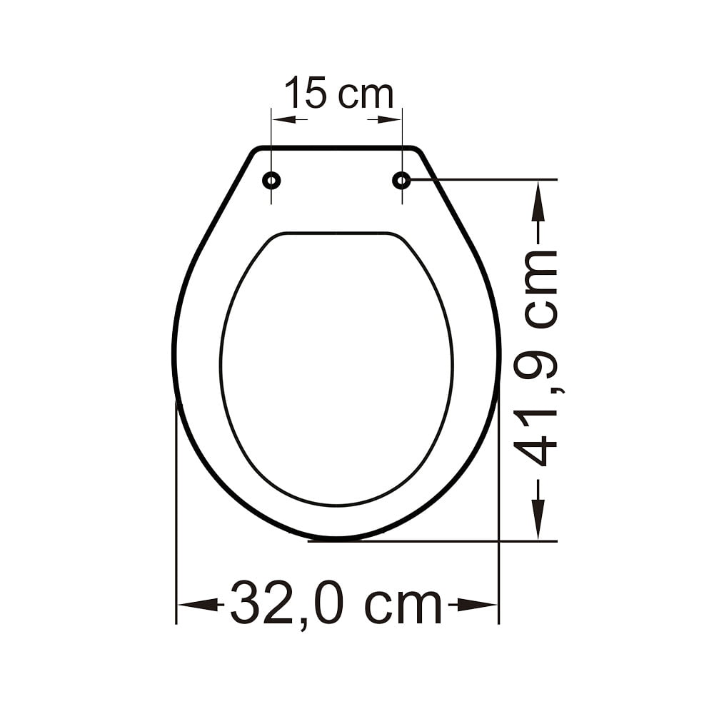 Assento sanitário Oval infantil branco convencional polipropileno