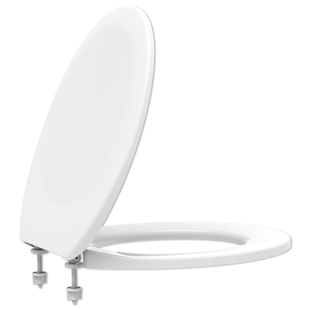 Assento sanitário Universal Oval Diamantina Sabara branco convencional polipropileno