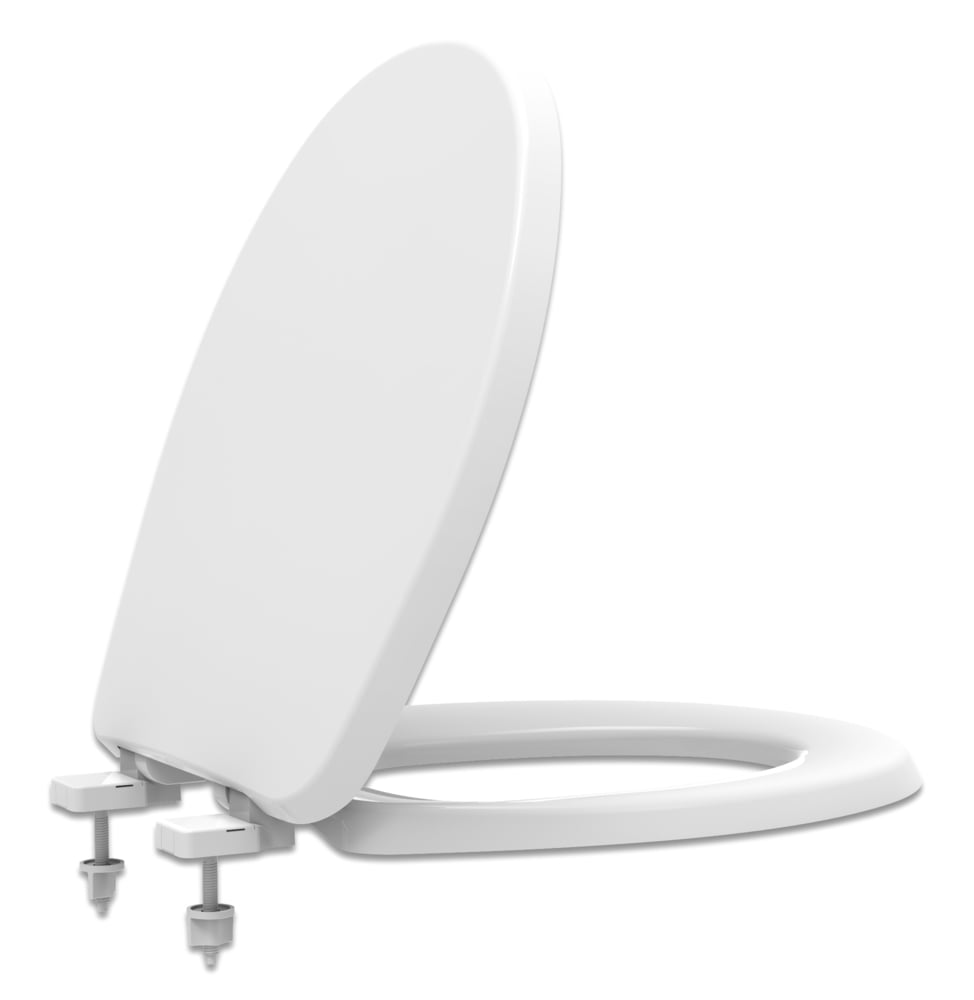 Assento sanitário Universal Oval Evolution branco convencional resina termofixo