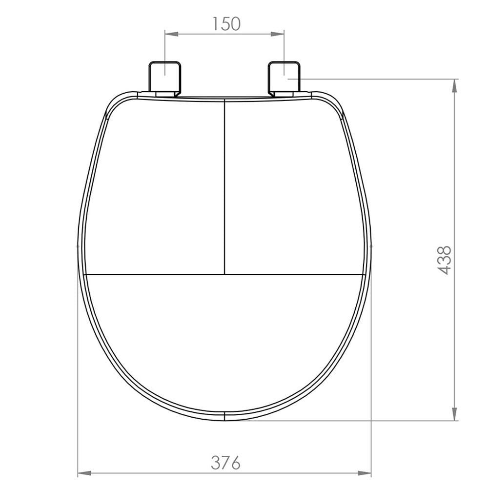 Assento sanitário Universal Oval Evolution cinza convencional resina termofixo