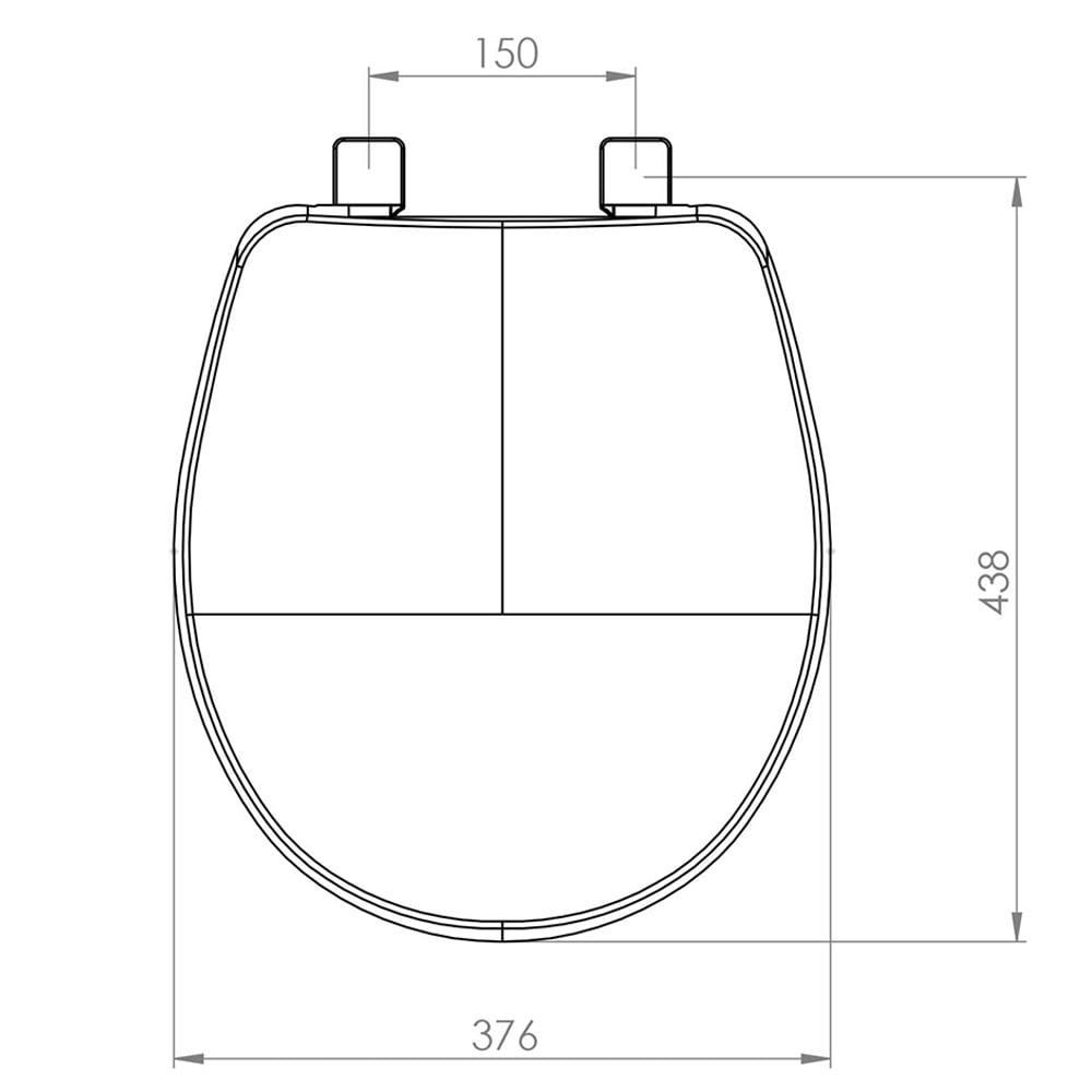 Assento sanitário Universal Oval Evolution cinza soft close resina termofixo