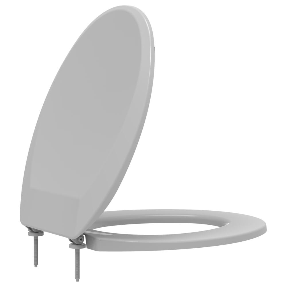 Assento sanitário Universal Oval Prime cinza convencional polipropileno