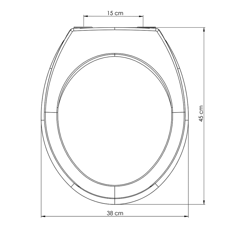 Assento sanitário Universal Oval Prime cinza convencional resina termofixo