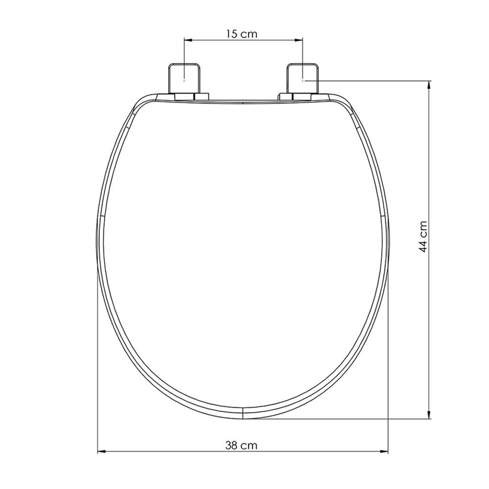 Assento sanitário Universal Oval Solution branco convencional polipropileno