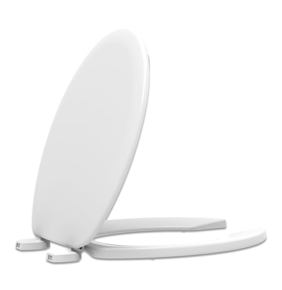 Assento sanitário Universal Oval Trafic branco convencional polipropileno