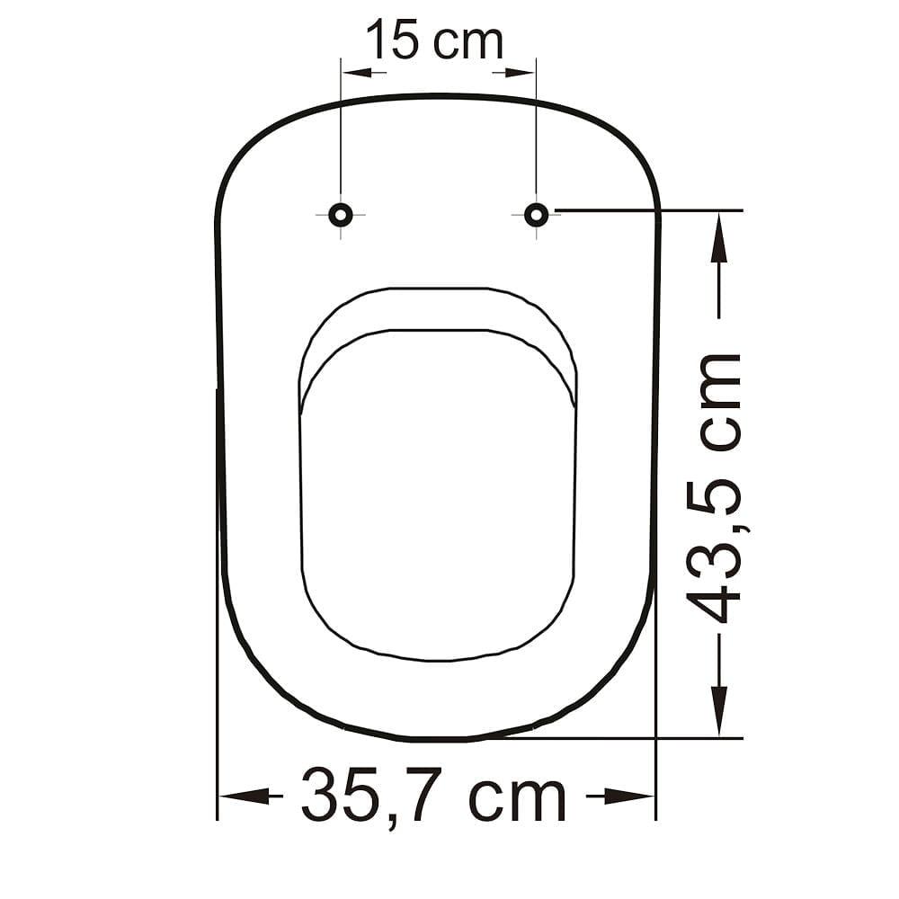 Assento sanitário VoguePlus/Life/Flox/Square/LorenLuna/LorenClass convencional polipropileno