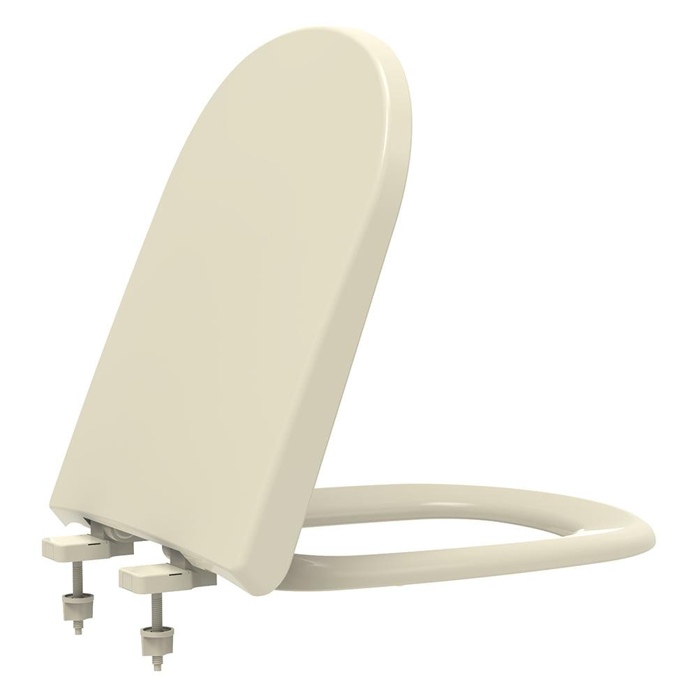 Assento sanitário VoguePlus Life Flox Square LorenLuna LorenClass creme soft close polipropileno