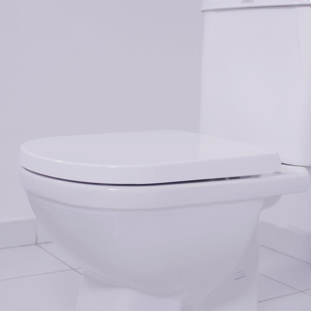 Assento sanitário VoguePlus/Life/Flox/Square/LorenLuna/LorenClass gelo soft close resina termofixo