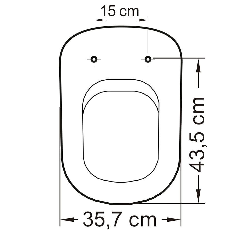 Assento sanitário VoguePlus/Life/Flox/Square/LorenLuna/LorenClass creme convencional polipropileno