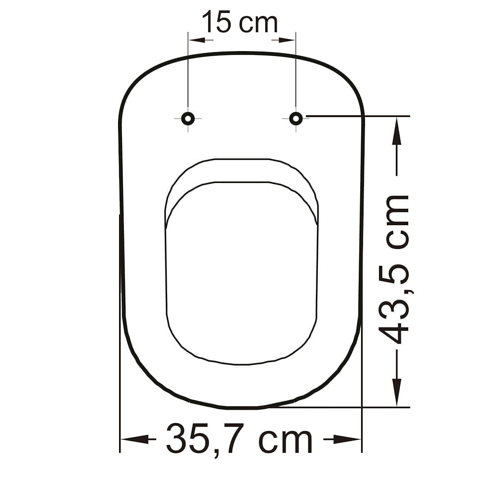 Assento sanitário VoguePlus/Life/Flox/Square/LorenLuna/LorenClass pergamon convencional resina termofixo