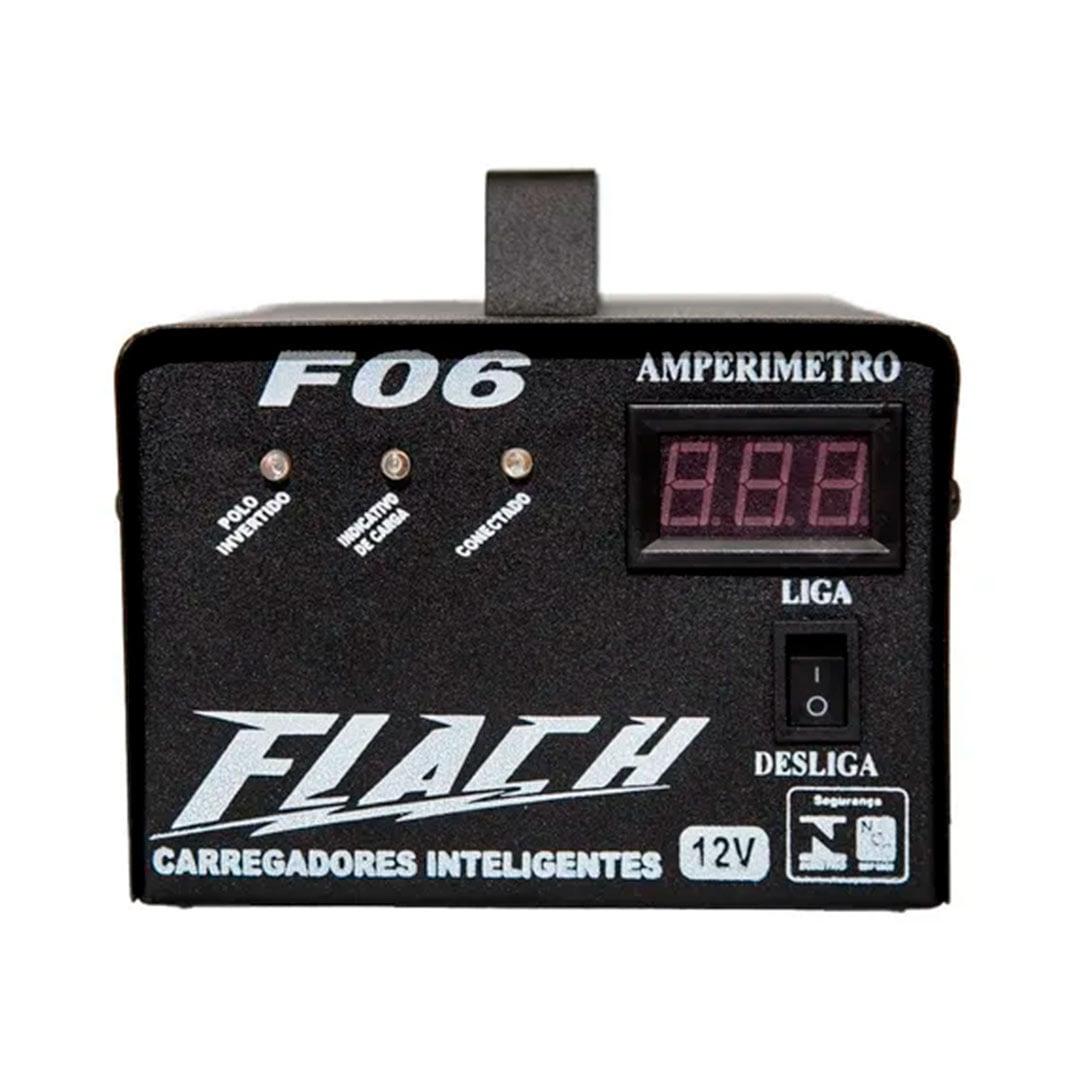 Carregador inteligente de bateria com Display 6A bivolt Flach