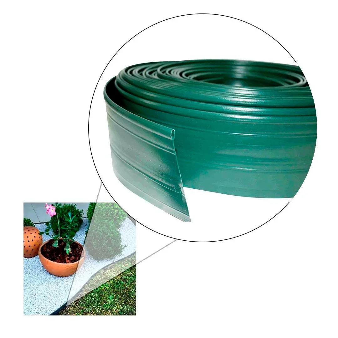 Limitador grama separador jardim 10 metros com borda vazada