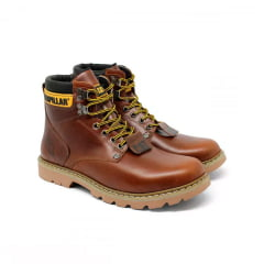 BOTA CATERPILLAR MARROM BOTINA + CHINELO TIRAS