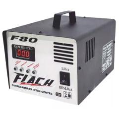Carregador de Bateria 80A 12V Aux. Partida Bivolt F80 Flach
