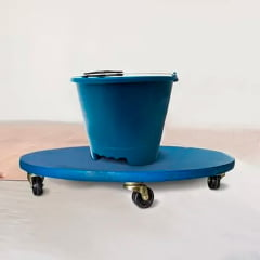 Carrinho Roller Carga Deslizante Azul Capacidade até 300 kg