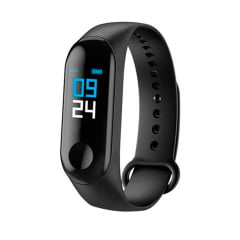 Relógio Smartwatch Smart Band M3 Bluetooth - Preto