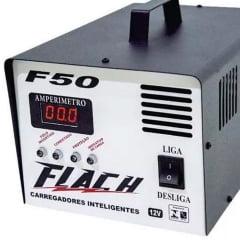 Carregador de Bateria Automotivo Inteligente 50A Aux. Partida Bivolt F50 Flach