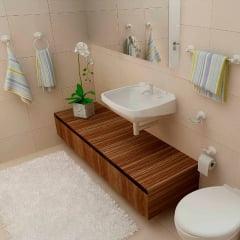 Kit acessórios banheiro soft plástico branco 5 peças