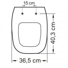 Assento Incepa City/Avant, Logasa/Angra e Celite/Like soft close polipropileno