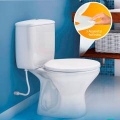 Assento Sanitário Almofadado Multi Branco Convencional Polietileno